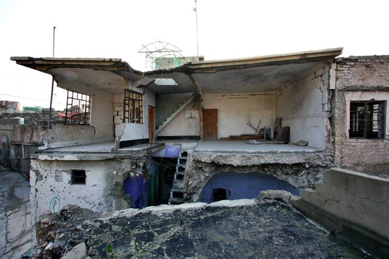 IRAQ-MOSUL_S TWO GOVERNORS-PICTURED-Reconstruction has begun in Mosul but much of the west still remains in ruins two years on since it was liberated from ISIS. Charlie Faulkner for The National