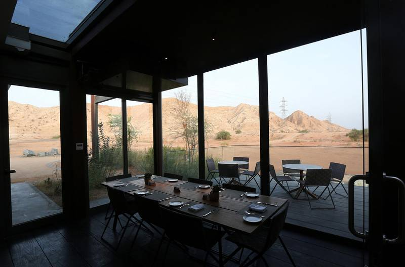 Sharjah, August, 18, 2019: General view from the restaurant at the Al Faya Lodge in Sharjah. Satish Kumar/ For the National / Story by Rupert Hawksley