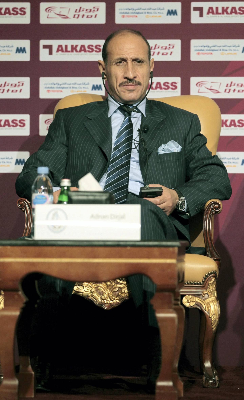 Al-Wakra's head coach Adnan Dirjal of Iraq attends the launch party of the Qatar Soccer Stars League Season 2011/2012 in Doha September 15, 2011. REUTERS/Fadi Al-Assaad (QATAR  - Tags: SPORT SOCCER)