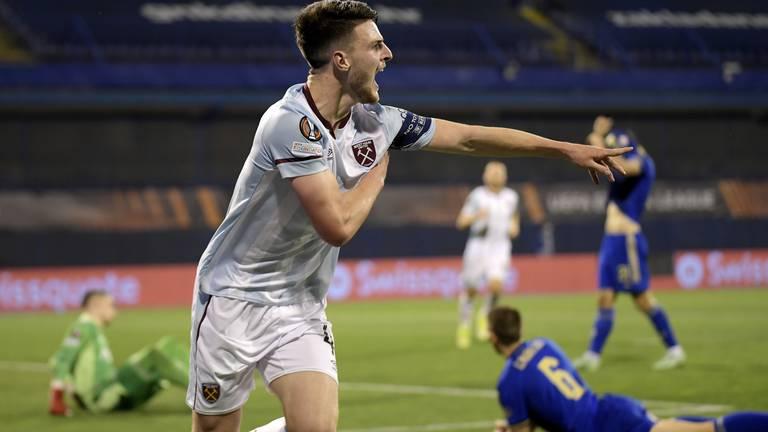 An image that illustrates this article West Ham ratings v Dinamo Zagreb: Rice 9, Zouma 8, Antonio 8
