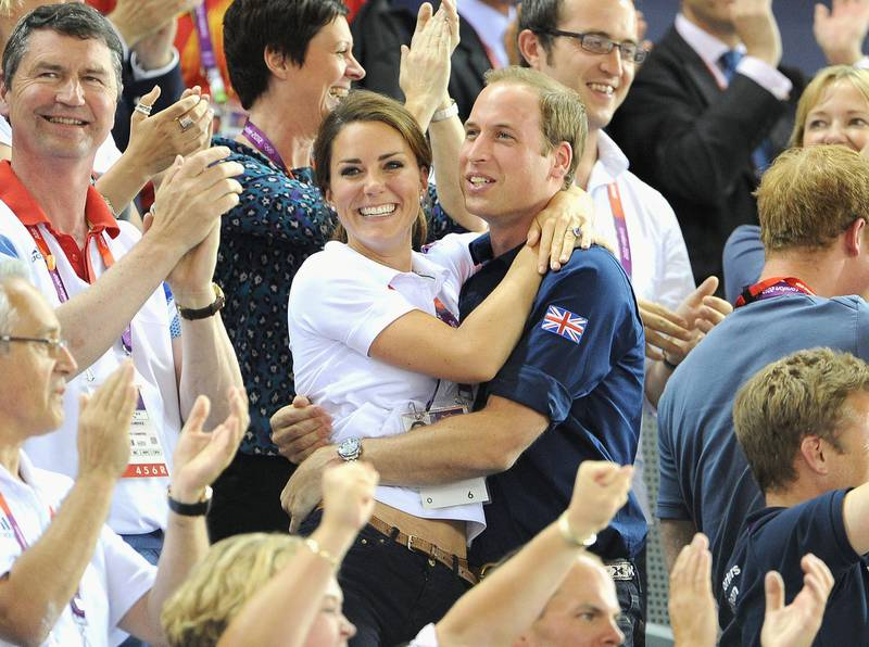 LONDON, ENGLAND - AUGUST 02:  Catherine, Duchess of Cambridge and Prince William, Duke of Cambridge during Day 6 of the London 2012 Olympic Games at Velodrome on August 2, 2012 in London, England.  (Photo by Pascal Le Segretain/Getty Images)