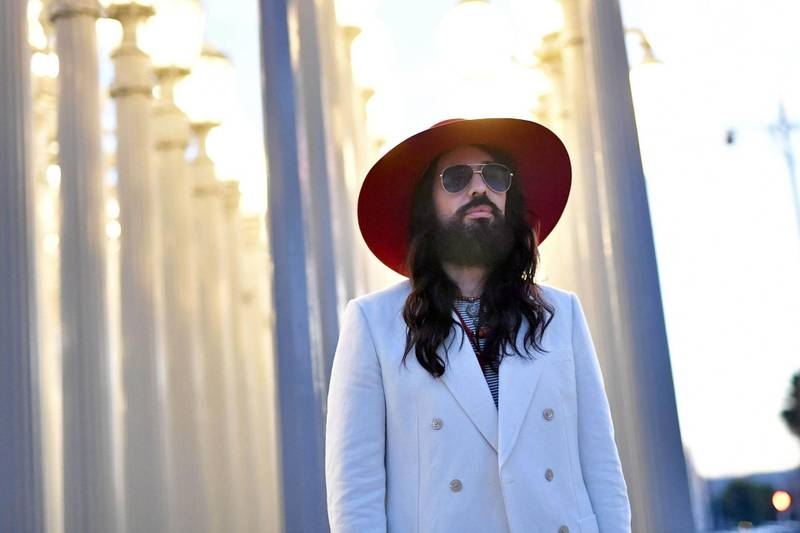 LOS ANGELES, CALIFORNIA - NOVEMBER 02: Alessandro Michele, wearing Gucci, attends the 2019 LACMA Art + Film Gala Presented By Gucci at LACMA on November 02, 2019 in Los Angeles, California.   Emma McIntyre/Getty Images for LACMA/AFP