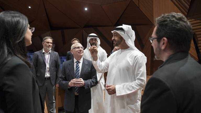 An image that illustrates this article Sheikh Mohamed bin Zayed congratulates NYU Abu Dhabi on its 10th anniversary