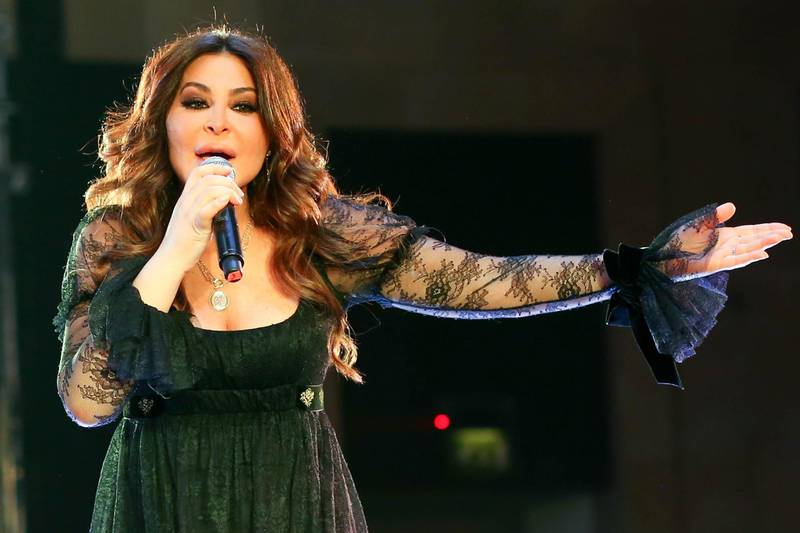 epa07299454 Lebanese singer Elissa performs in Cairo, Egypt, 18 January 2019 (issued 19 January 2019). The revenue of the concert was fully dedicated to Egyptian breast cancer patients. Elissa, who recently revealed she had recovered from breast cancer, was chosen to be the ambassador of the breast cancer awareness campaign.  EPA-EFE/MAHMOUD AHMED *** Local Caption *** 54912632