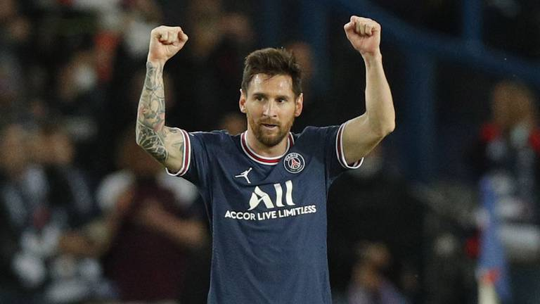 An image that illustrates this article Pep Guardiola praises 'unstoppable' Messi after Champions League defeat