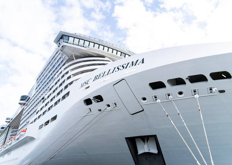 ABU DHABI, UNITED ARAB EMIRATES. 8 DECEMBER 2019. MSC Bellissima arrived today at Abu Dhabi Cruise Terminal.(Photo: Reem Mohammed/The National)Reporter:Section: