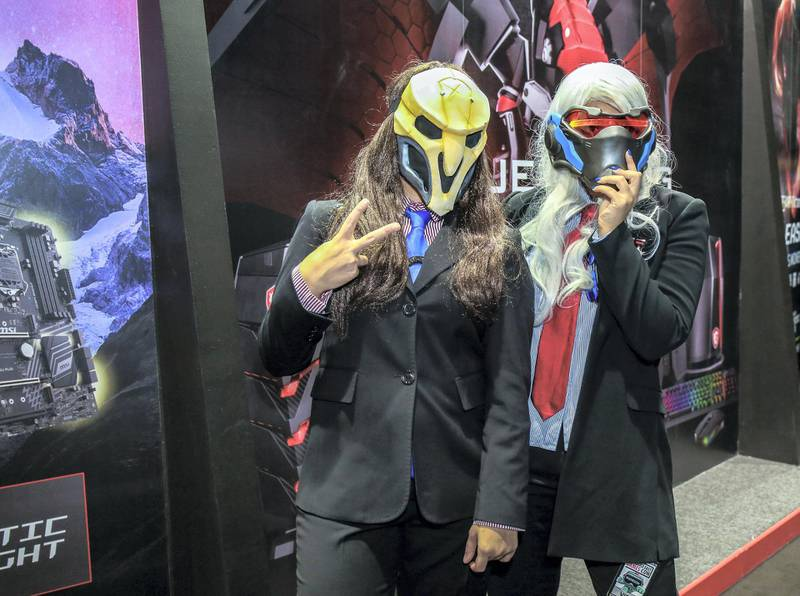 November 24, 2017. Charachters from Overwatch, (L-R) Reaper and Soldier during the Games Con Middle East at ADNEC.Victor Besa for The NationalACRequested by: Clare Dight