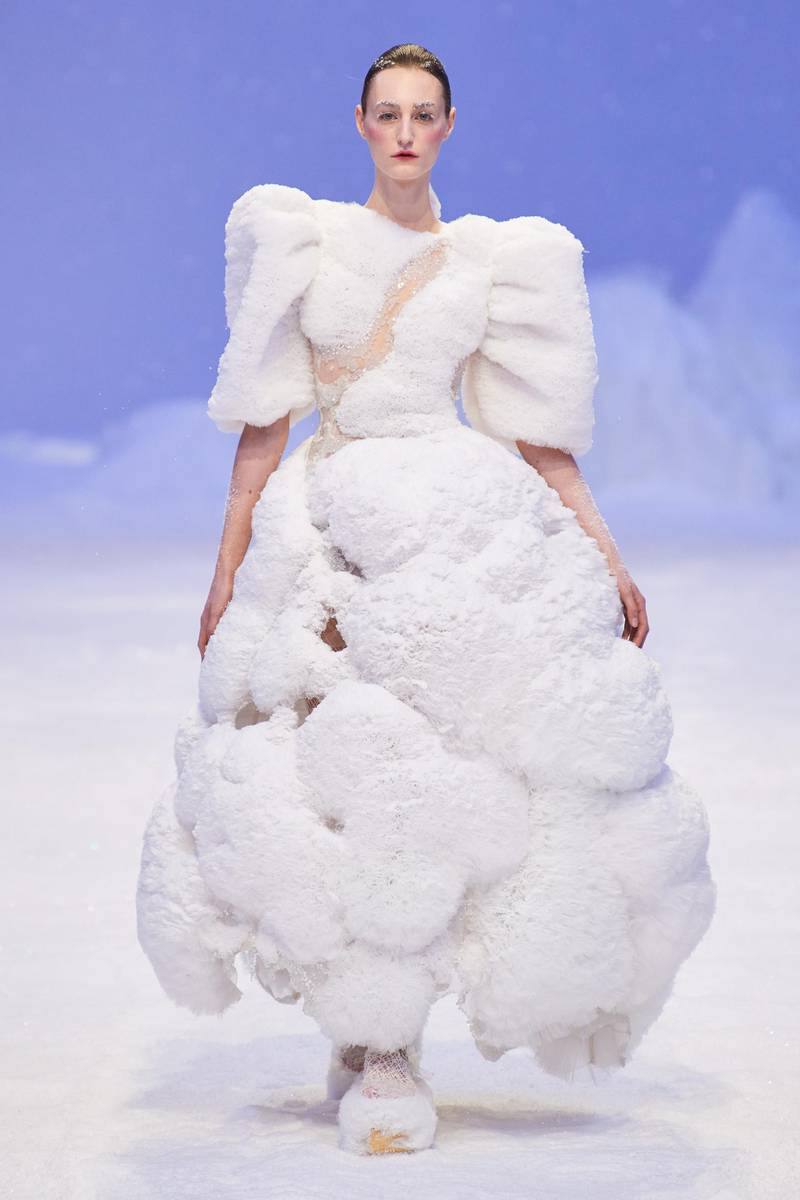 guo pei snowball dress couture spring