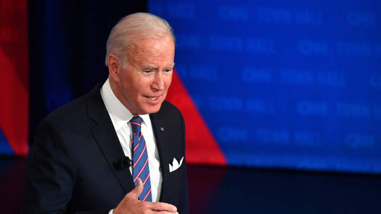 An image that illustrates this article Biden breaks with traditional US policy, saying would defend Taiwan if attacked