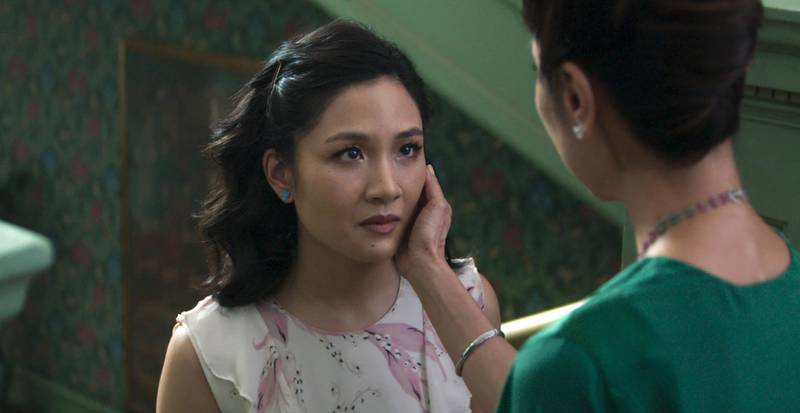 """This image released by Warner Bros. Entertainment shows Constance Wu, left, and Michelle Yeoh in a scene from the film """"Crazy Rich Asians."""" (Warner Bros. Entertainment via AP)"""