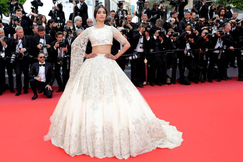 """CANNES, FRANCE - MAY 14:  Sonam Kapoor attends the screening of """"Blackkklansman"""" during the 71st annual Cannes Film Festival at Palais des Festivals on May 14, 2018 in Cannes, France.  (Photo by Vittorio Zunino Celotto/Getty Images for Kering)"""