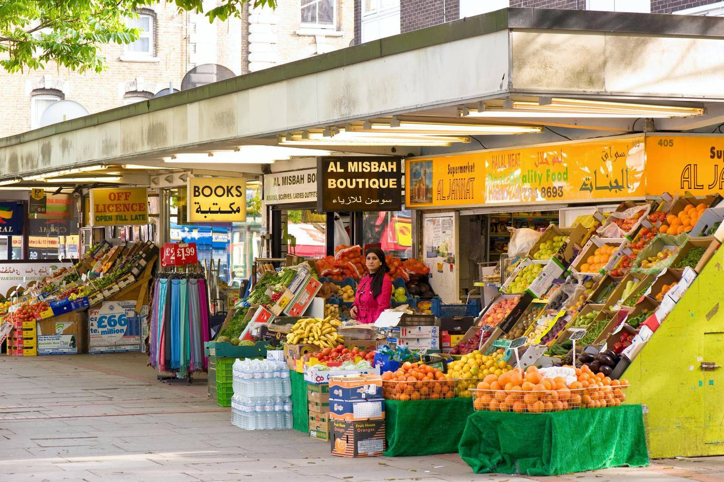 BAKRH2 Grocery store selling ethnic produce Edgware Road W2 London United Kingdom. Image shot 2009. Exact date unknown.