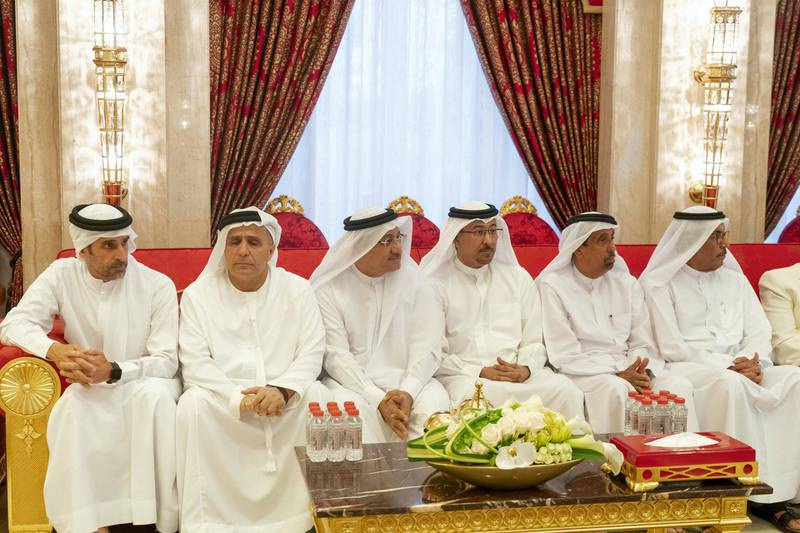DUBAI, UNITED ARAB EMIRATES - May 19, 2019: Dignitaries and guests attend an iftar reception hosted by HH Sheikh Mohamed bin Rashid Al Maktoum, Vice-President, Prime Minister of the UAE, Ruler of Dubai and Minister of Defence (not shown), at Zabeel Palace.   ( Mohamed Al Hammadi / Ministry of Presidential Affairs ) ---