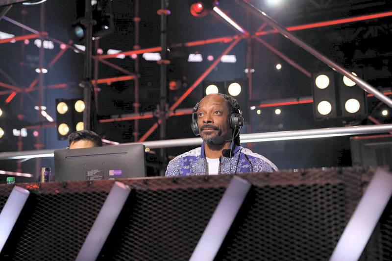 Snoop Dog commentating on the match. Courtesy Triller