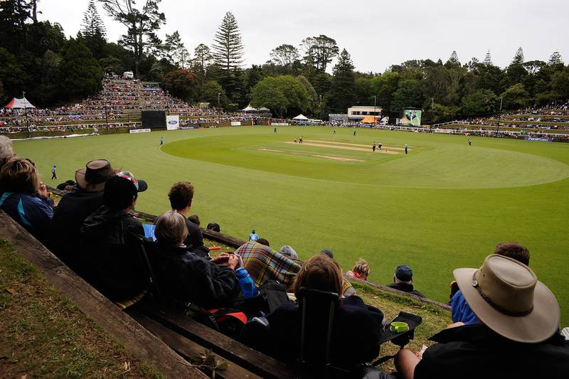 NEW PLYMOUTH, NEW ZEALAND - JANUARY 31:  A general view during the HRV Twenty20 cricket final between the Central Staggs and The Auckland Aces at Pukekura Park on January 31, 2010 in New Plymouth, New Zealand.  (Photo by Ross Land/Getty Images)