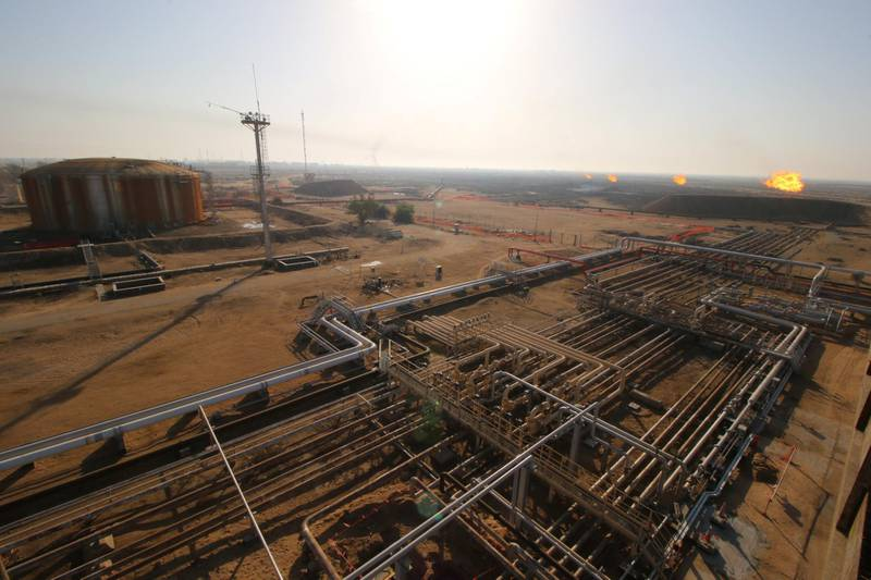 A general a view of the Rumaila oil field in Basra, Iraq, November 28, 2017.  Picture taken November 28, 2017.  REUTERS/Essam Al-Sudani