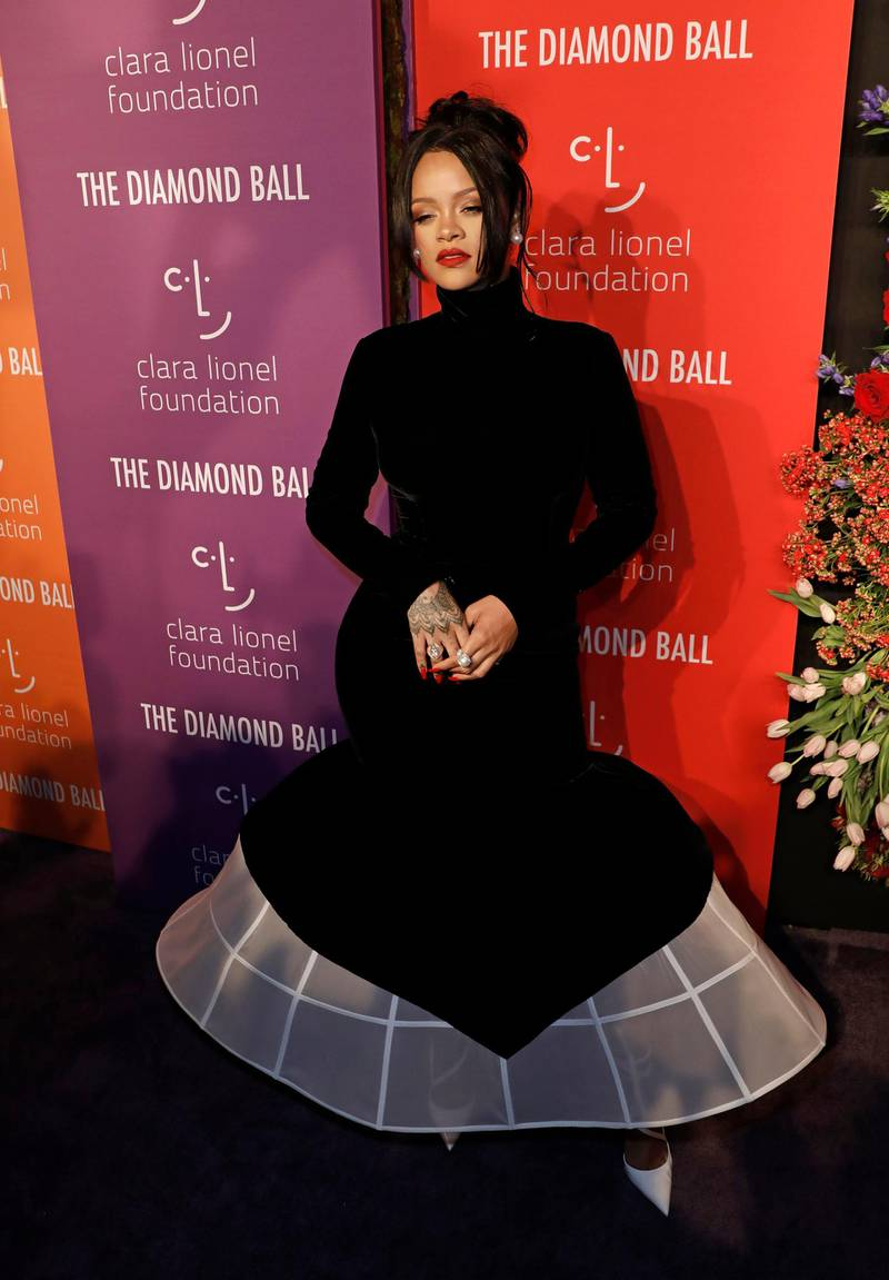 epa07838670 Barbadian-born singer Rihanna poses on the red carpet at the 5th Annual Diamond Ball, benefiting the Clara Lionel Foundation, at Cipriani Wall Street in New York, New York, USA, 12 September 2019.  EPA-EFE/PETER FOLEY