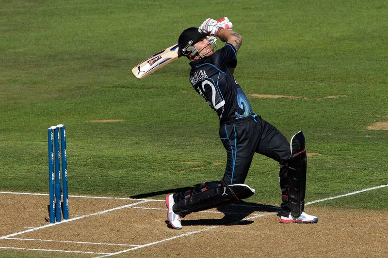 NAPIER, NEW ZEALAND - FEBRUARY 20:  Brendon McCullum of New Zealand bat during the second match of the international Twenty20 series between New Zealand and England at McLean Park on February 20, 2013 in Napier, New Zealand.  (Photo by Hagen Hopkins/Getty Images)