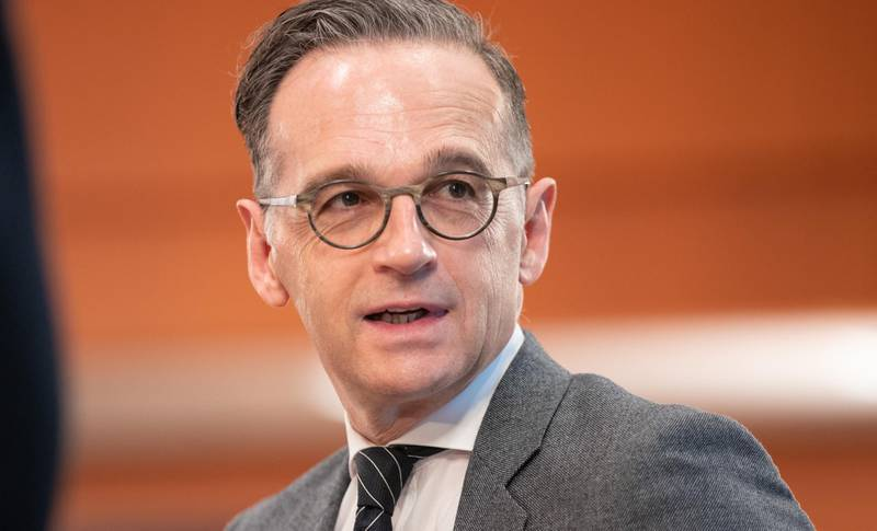 BERLIN, GERMANY - MAY 20: Heiko Maas (SPD), Federal Minister of Foreign Affairs, attends the Cabinet Meeting during the coronavirus on May 20, 2020 in Berlin, Germany. (Photo by Andreas Gora - Pool/Getty Images)