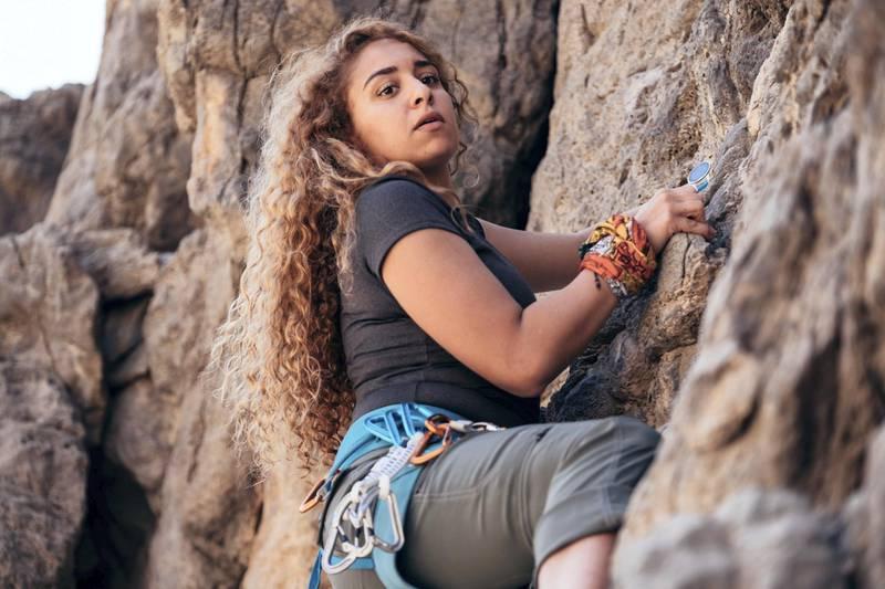 11.01.19 Dubai resident Fatima Deryan spending her Friday climbing the highest peak of the UAE; Jebel Jais  in Ras Al Khaimah. Fatima is training to climb Everest in March.Anna Nielsen For The National