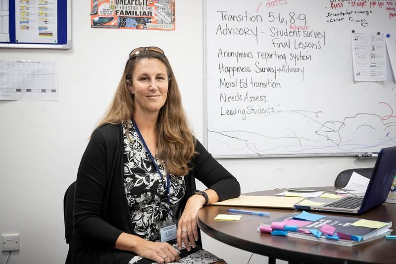DUBAI, UNITED ARAB EMIRATES. 05 MAY 2018. Kara Haines, Middle School Counselor, Universal American School. (Photo: Antonie Robertson/The National) Journalist: Anam Rizvi. Section: National.