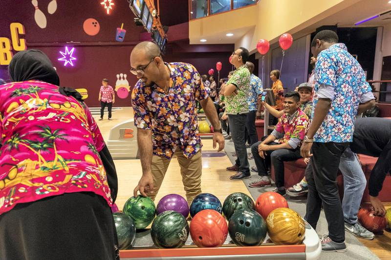 DUBAI, UNITED ARAB EMIRATES. 08 MAY 2018. Weekender-style landscape images of Dubai Bowling Center. (Photo: Antonie Robertson/The National) Journalist: Ellen Fortini. Section: Weekend.