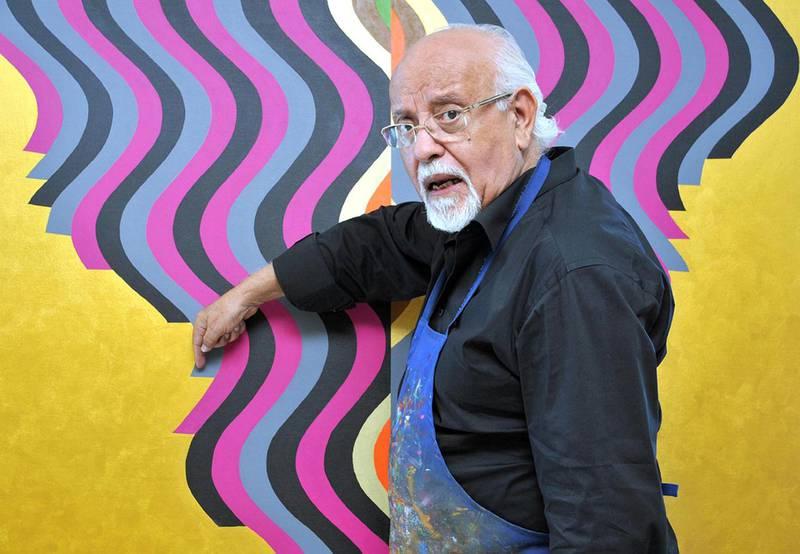 Moroccan artist Mohamed Melehi. courtesy: H Chergui