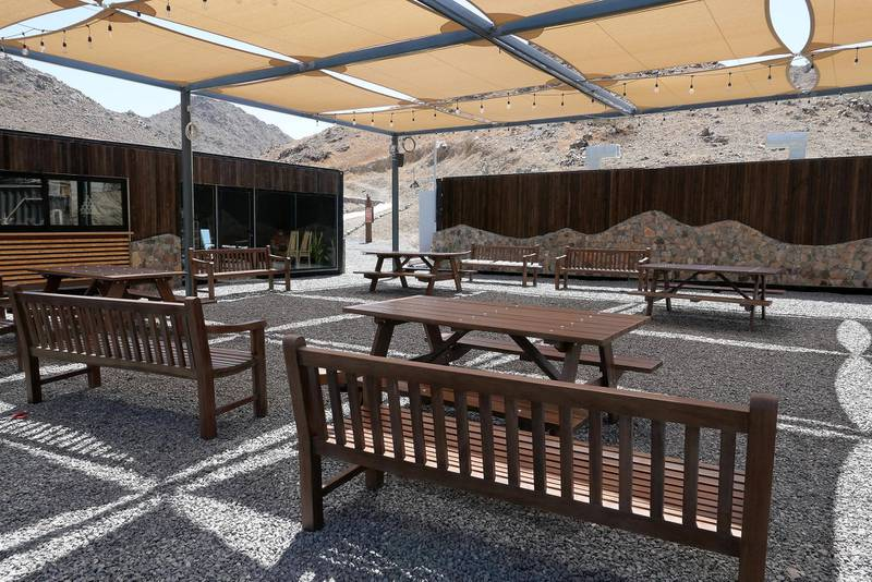 FUJAIRAH, UNITED ARAB EMIRATES , March 23, 2021 – View of the coffee shop area at the Fujairah Adventures Park in Fujairah. (Pawan Singh / The National) For Instagram/Online/ Lifestyle. Story by Janice Rodrigues