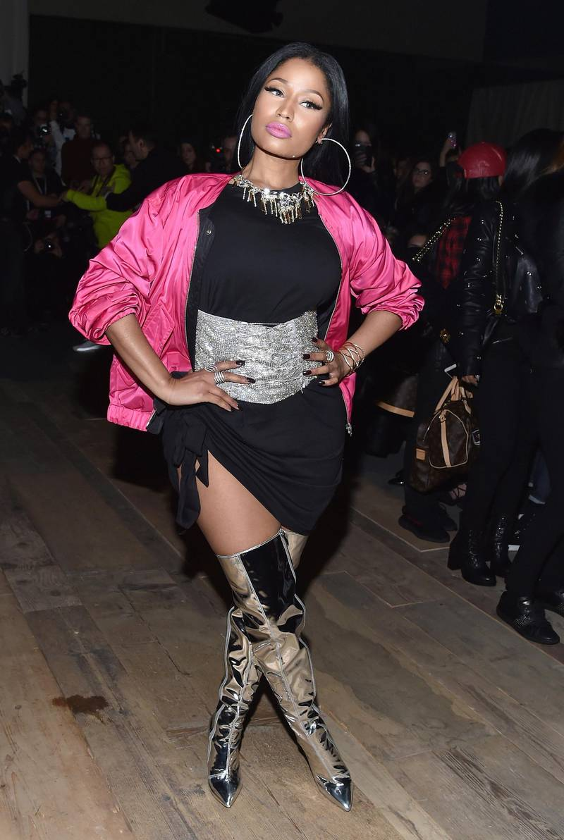 PARIS, FRANCE - MARCH 01:  Nicki Minaj attends the H&M Studio show as part of the Paris Fashion Week on March 1, 2017 in Paris, France.  (Photo by Pascal Le Segretain/Getty Images)