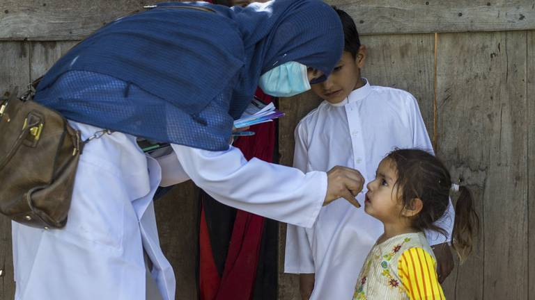 An image that illustrates this article Remarkable progress made to end polio says Sheikh Mohamed bin Zayed