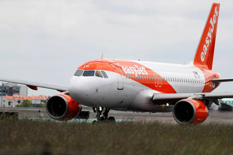 An easyJet plane prepares to take off at Lisbon's airport, Portugal July 5, 2018. REUTERS/Rafael Marchante