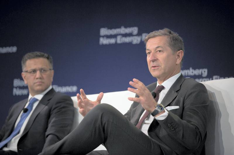 Hans Kobler, chief executive officer of Energy Impact Partners LP, speaks on a panel during the BNEF Future of Energy Summit in New York, U.S. on Monday, April 9, 2018. The event serves as a forum to discuss the critical energy issues of today and the next decade. Photographer: Alex Flynn/Bloomberg via Getty Images