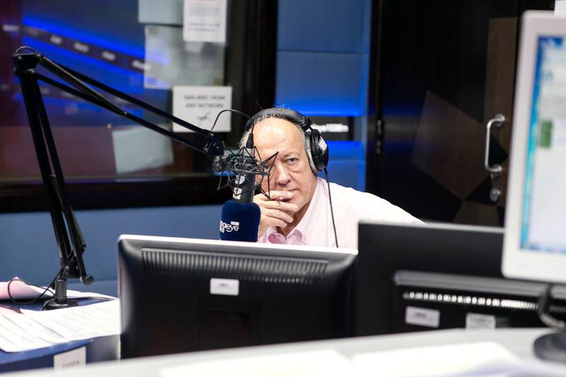 DUBAI, UNITED ARAB EMIRATES, AUGUST 3, 2016.  Malcolm Taylor of The Business Breakfast show of Dubai Eye 103.8 in their studio at Arabian Radio Network offices. Photo: Reem Mohammed / The National  (Reporter: Afshan Ahmed / Section: AL) ID 20528 *** Local Caption ***  RM_20160803_ARN_021.JPG