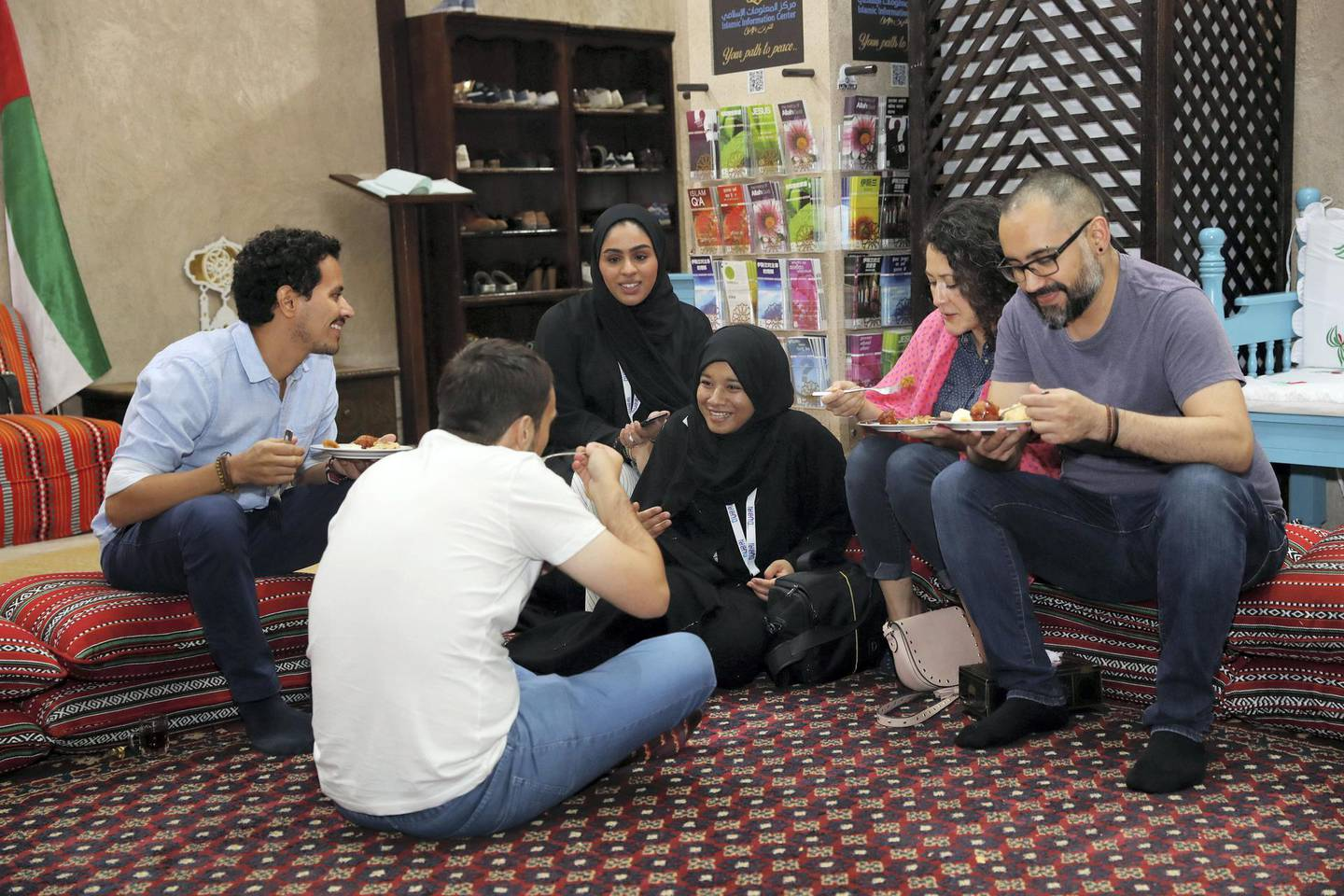 Dubai, United Arab Emirates - June 5th, 2018: Ramadan cultural night and Iftar at the Sheikh Mohammed Centre for Cultural Understanding. Tuesday, June 5th, 2018 at Sheikh Mohammed Centre for Cultural Understanding, Dubai. Chris Whiteoak / The National