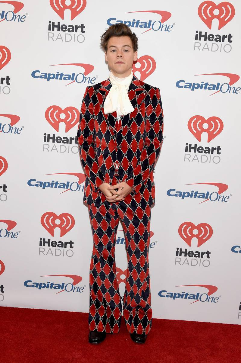 LAS VEGAS, NV - SEPTEMBER 22:  Harry Styles attends the 2017 iHeartRadio Music Festival at T-Mobile Arena on September 22, 2017 in Las Vegas, Nevada.  (Photo by David Becker/Getty Images for iHeartMedia)