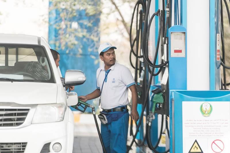 ABU DHABI, UNITED ARAB EMIRATES - APRIL 4, 2018. ADNOC Petrol station.(Photo by Reem Mohammed/The National)Reporter: John DennehySection: NA