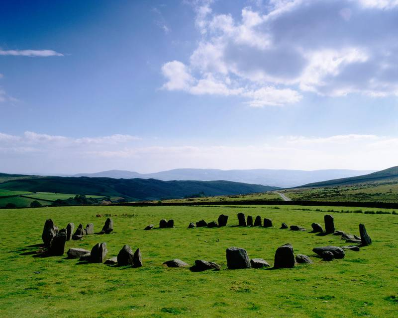 (Original Caption) This dazzling and beautifully preserved stone circle is two miles up Swinside Farm track on private farmland. A sign advises visitors to leave their cars and walk. (Photo by © Homer Sykes/CORBIS/Corbis via Getty Images)