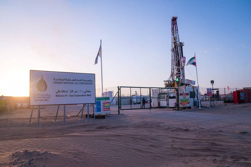 The Sharjah National Oil Corporation and its Italian partner ENI, have announced a successful new discovery of natural gas and condensate onshore at the Mahani field in Sharjah. The discovery of at Mahani-1 exploration well with flow rates of up to 50 million standard cubic feet per day comes within the first year of the partnership and represents the first onshore discovery of gas in the Emirate since the early 1980's. Mahani-1 well was drilled at a total depth of 14,597 feet, which resulted in the discovery of gas with the associated capacitors in the formation of the Thumama. The size of the discovery will be estimated in time in light of expectations for further evaluation and development. Courtesy: Sharjah Government Media Bureau