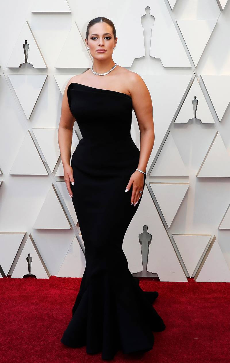 epa07394234 Ashley Graham arrives for the 91st annual Academy Awards ceremony at the Dolby Theatre in Hollywood, California, USA, 24 February 2019. The Oscars are presented for outstanding individual or collective efforts in 24 categories in filmmaking.  EPA/ETIENNE LAURENT