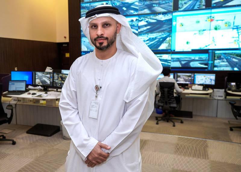 Al Ain, United Arab Emirates, November 1, 2020.   The control room at the intelligent traffic mangement system, Al Ain.  Engineer Hamad Al Afifi, Acting Director, Traffic Mangement Division.Victor Besa/The NationalSection:  NA