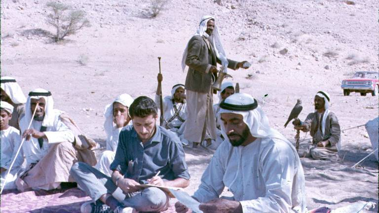 An image that illustrates this article Rare photos of Sheikh Zayed in archive acquired by Abu Dhabi university