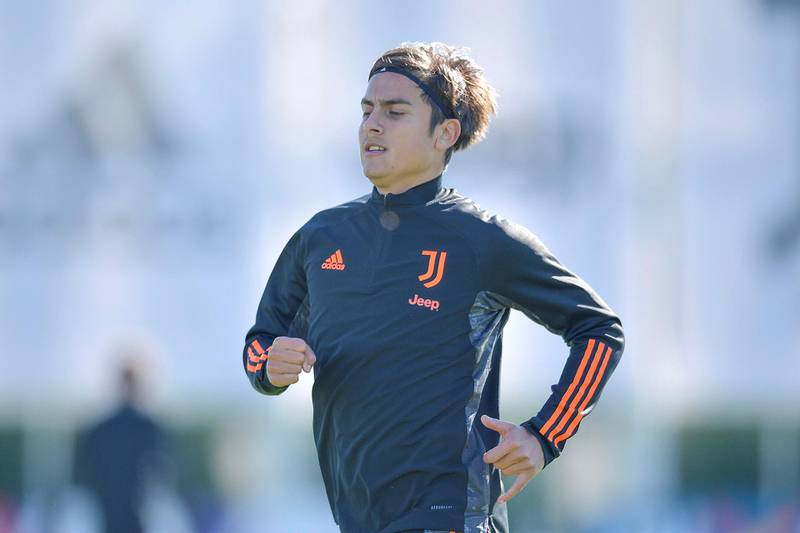 TURIN, ITALY - OCTOBER 27: Juventus player Paulo Dybala during the UEFA Champions League training session at JTC on October 27, 2020 in Turin, Italy. (Photo by Daniele Badolato - Juventus FC/Juventus FC via Getty Images)