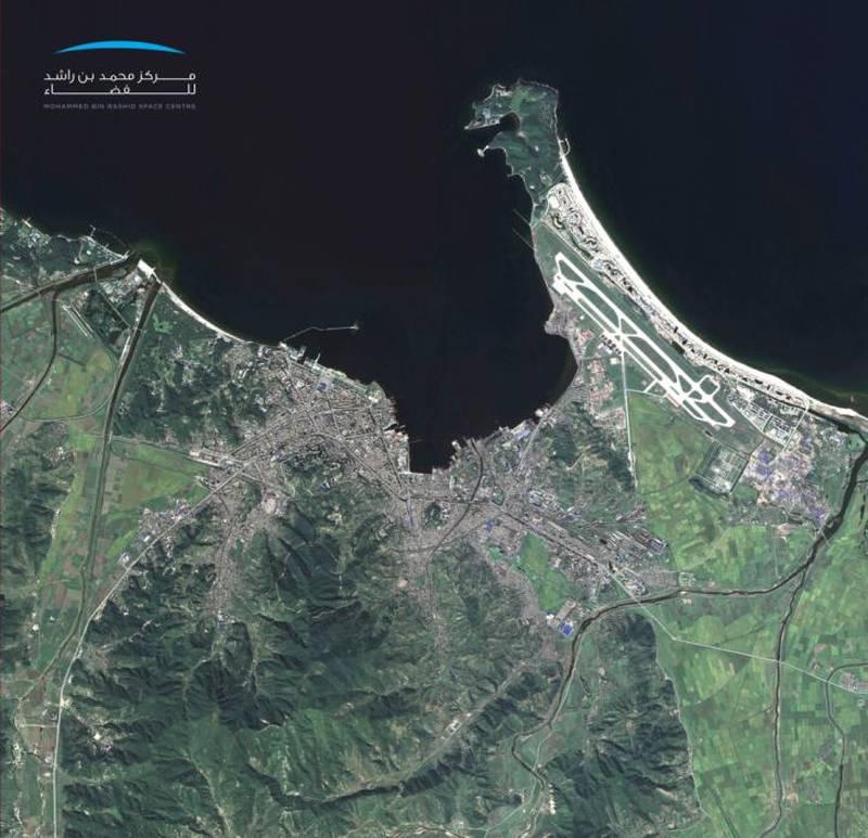 KhalifaSat- Wonsan North Korea. Courtesy Mohammed bin Rashid Space Centre
