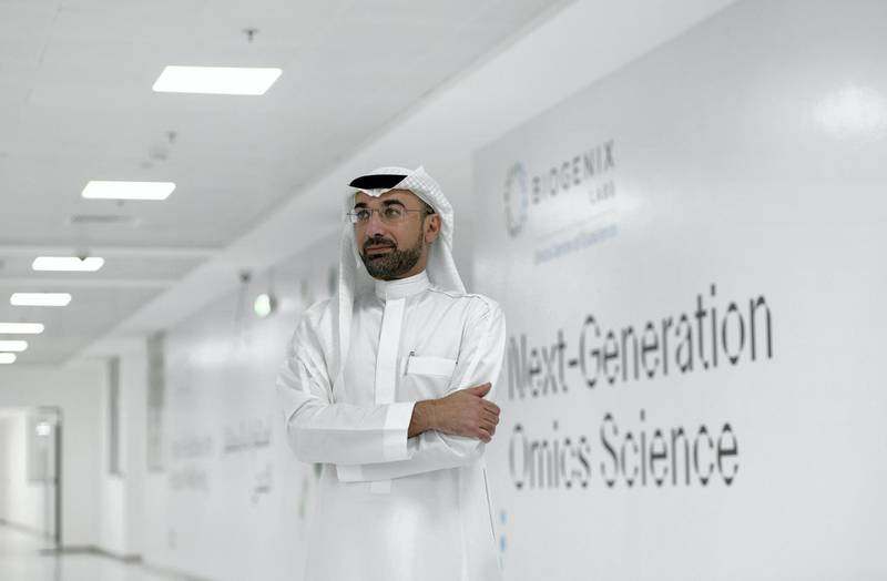 Abu Dhabi, United Arab Emirates - Dr. Walid Zaher, Chief Research Officer for G42 Healthcare at Omics Labs, Masdar City. Khushnum Bhandari for The National