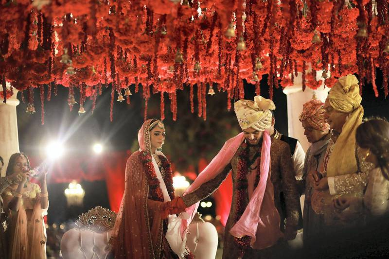 UAE batsman Chirag Suri's wedding in India went ahead as planned this month, but the celebrations have been affected by the travel restrictions related to coronavirus. Pics courtesy Chirag Suri