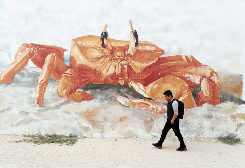 Dubai, United Arab Emirates - Reporter: N/A: Photo project. Street art and graffiti from around the UAE. Monday, January 27th, 2020. Jumeriah Beach road, Dubai. Chris Whiteoak / The National