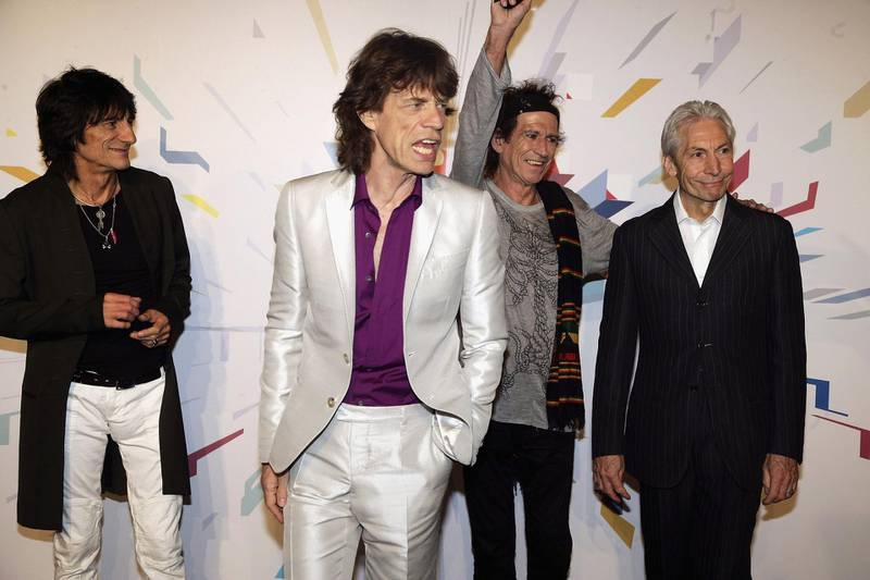 MILAN, ITALY - JULY 10:  The Rolling Stones members (L-R) Ron Wood, Mick Jagger, Keith Richards and Charlie Watts attend a photocall ahead of tomorrow's concert, at Hotel Principe di Savoia on July 10, 2006 in Milan, Italy.  The concert at the city's San Siro Stadium marks the start of the rock and roll band's European leg of their 'A Bigger Bang' World Tour.  (Photo by Getty Images)