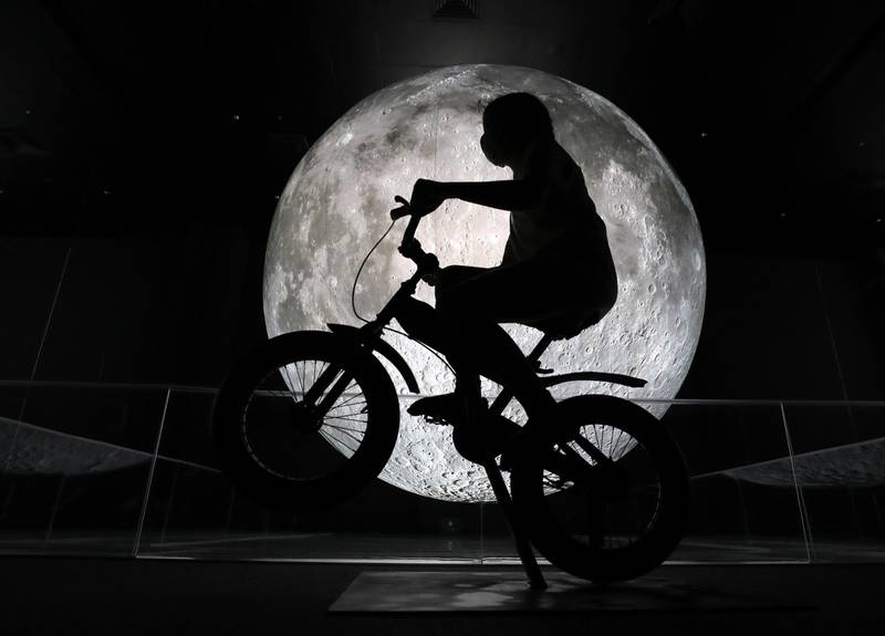 Dubai, United Arab Emirates - Reporter: Alex Chaves. Features. Museum of the Moon feature at OliOli children museum. Monday, October 19th, 2020. Dubai. Chris Whiteoak / The National