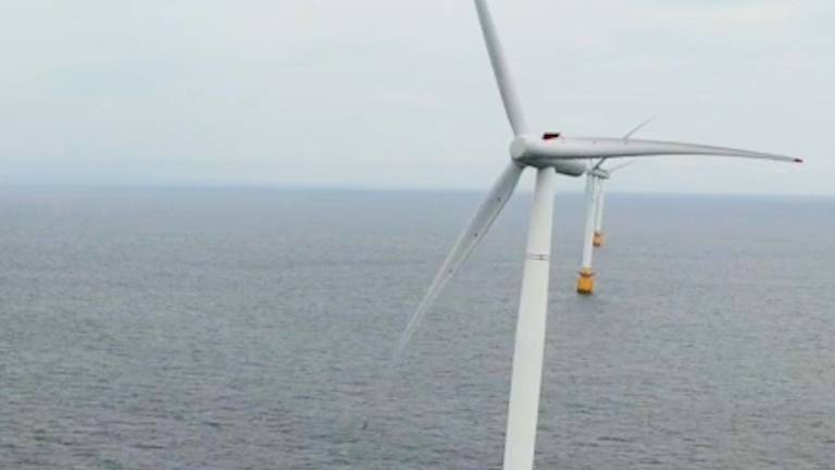 An image that illustrates this article Masdar-backed floating wind turbines brings more power to UK