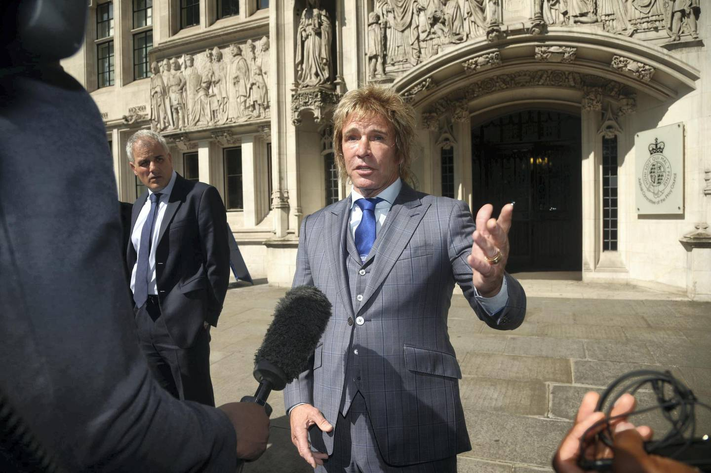 Pimlico Plumbers chief executive Charlie Mullins leaves the UK Supreme Court, Parliament Square, London, following the ruling in the case involving plumbers contracts, which is said will have 'huge ramifications' for the gig economy. (Photo by Yui Mok/PA Images via Getty Images)